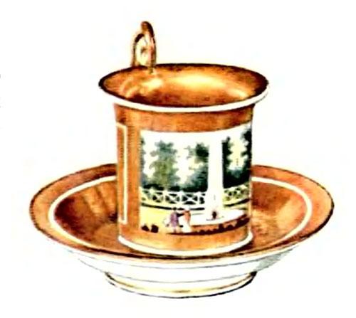 Фарфоровая табакерка